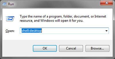 find recycle bin windows 7 - dialog box