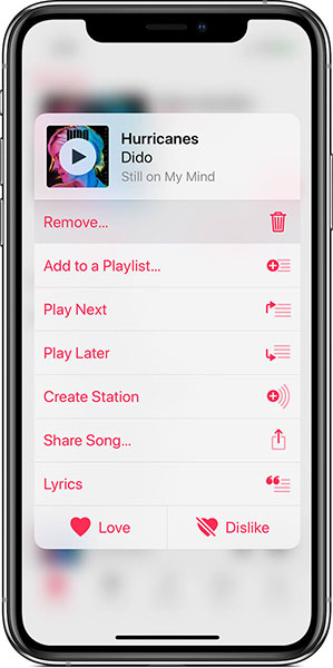delete videos from iPhone using apple music
