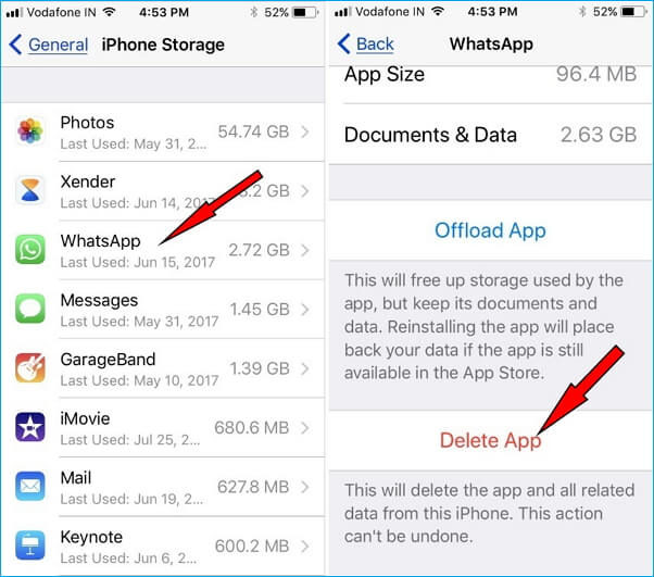 delete apps from iphone 8 settings