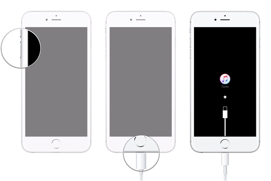 factory reset iPhone 7 in recovery mode