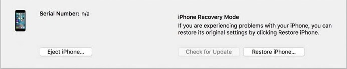 restore the iPhone