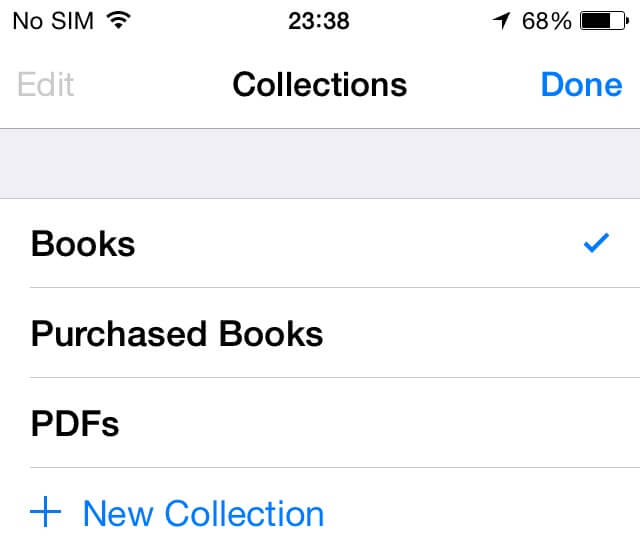 free up more ibook space on the iPhone - select collection
