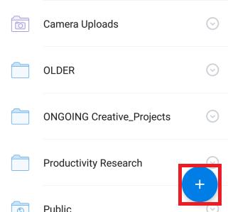 Dateien aus Dropbox hinzufügen
