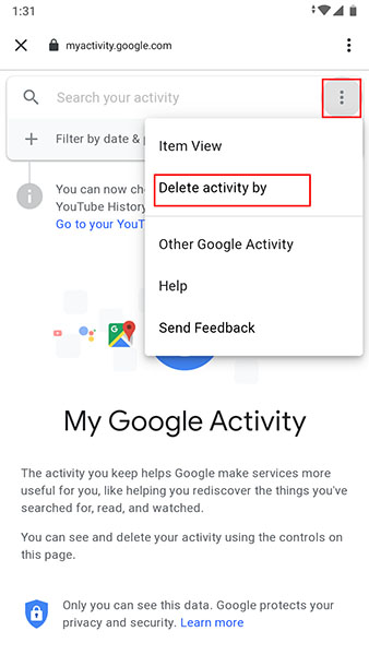 Delete activity by