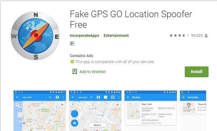application Fake GPS Go