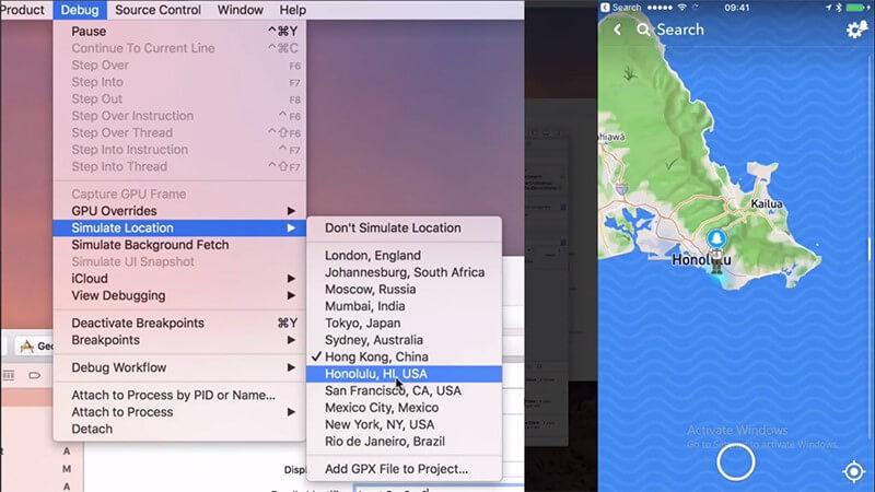 Simuler la localisation