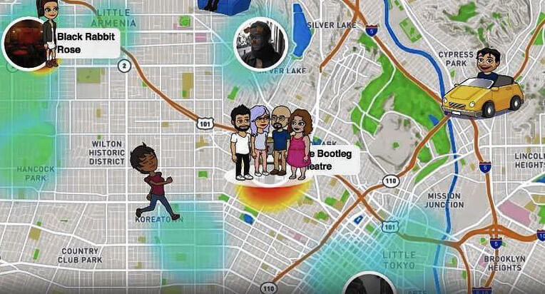 interface de Snapchat