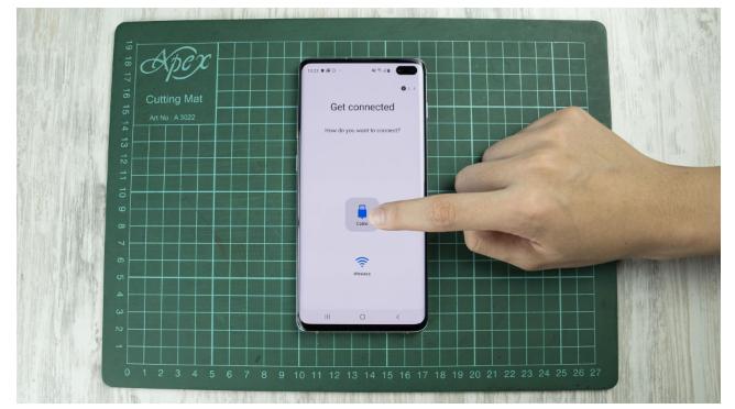 iphone sms auf samsung über usb otg 3