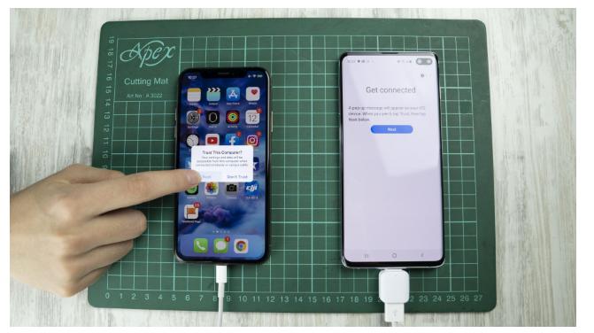 iphone sms auf samsung über usb otg 4