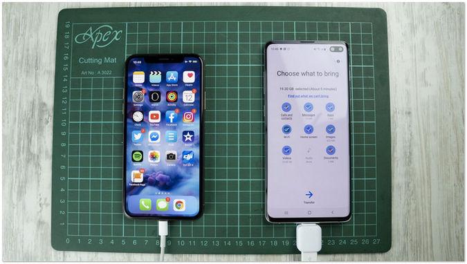 iphone sms auf samsung über usb otg 5