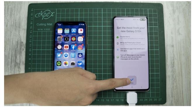 iphone sms auf samsung über usb otg 6