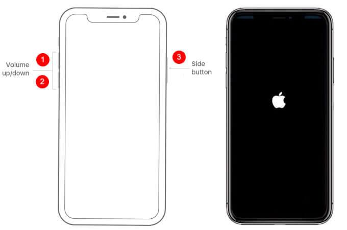 restart iphone 11