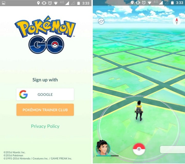 sign in to pokemon go