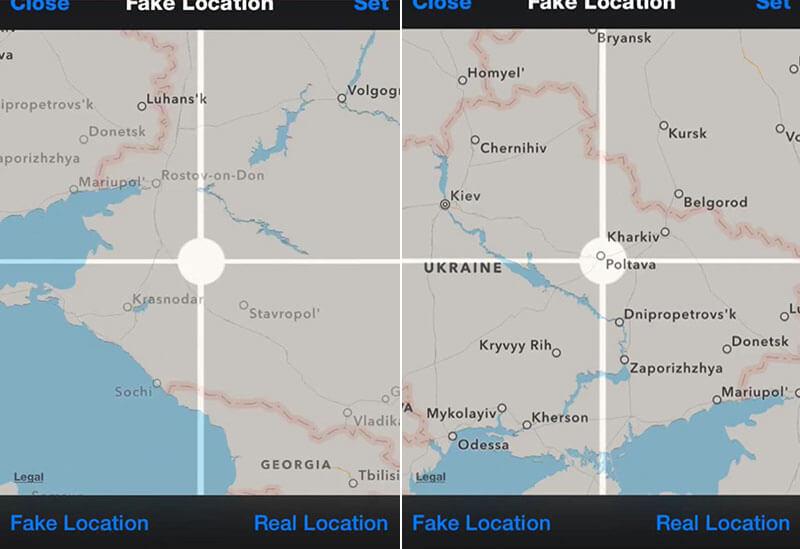 adjust location
