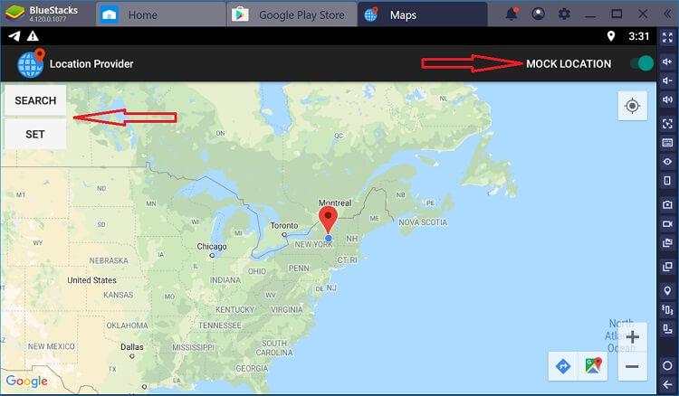 application de faux GPS