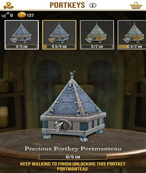 portkeys of harry potter game
