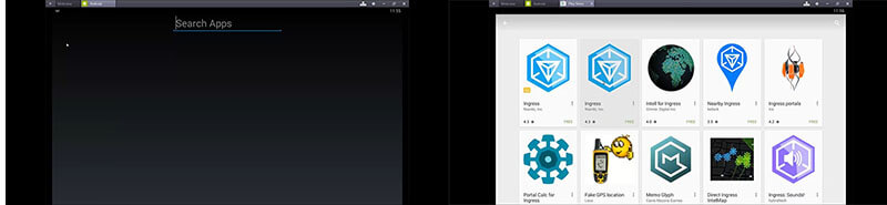 search ingress of bluestacks from play store