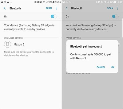 How to Transfer Photos from Android to Android by Bluetooth-Pair Devices