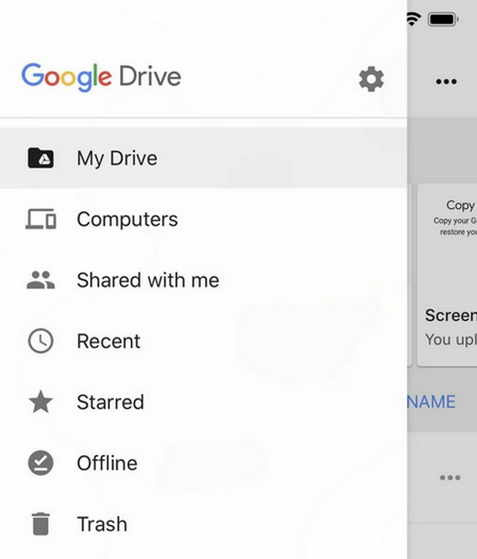 open google drive on iPhone
