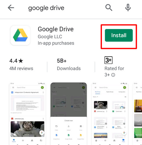 download and install google drive