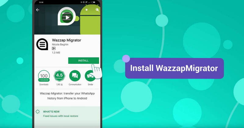uninstall and install wazzap migrator lite