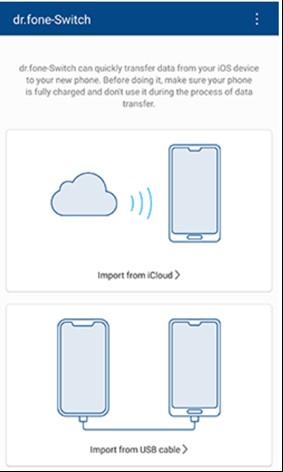 daten vom iphone auf das samsung s20 übertragen mit drfone app 1