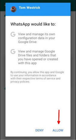 backup whatsapp to google drive on android 2