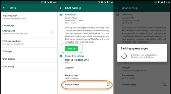 backup whatsapp to google drive 1