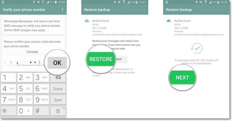 backup whatsapp to google drive and restore 2