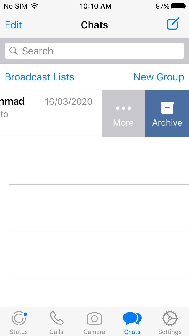 إخفاء دردشات WhatsApp 2