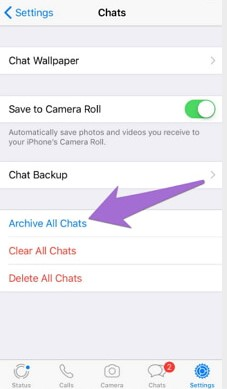 إخفاء دردشات WhatsApp 4