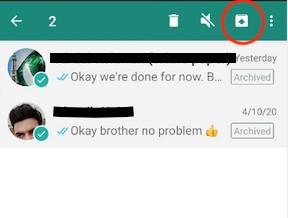 إخفاء دردشات WhatsApp 5