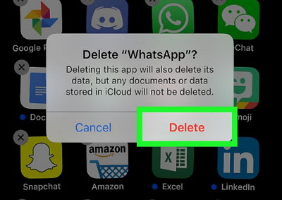 إعادة تثبيت whatsapp iphone