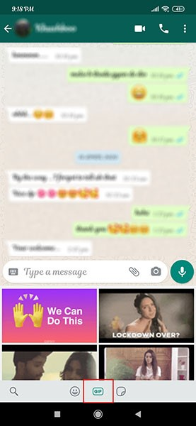 send a gif on whatsapp on android 2