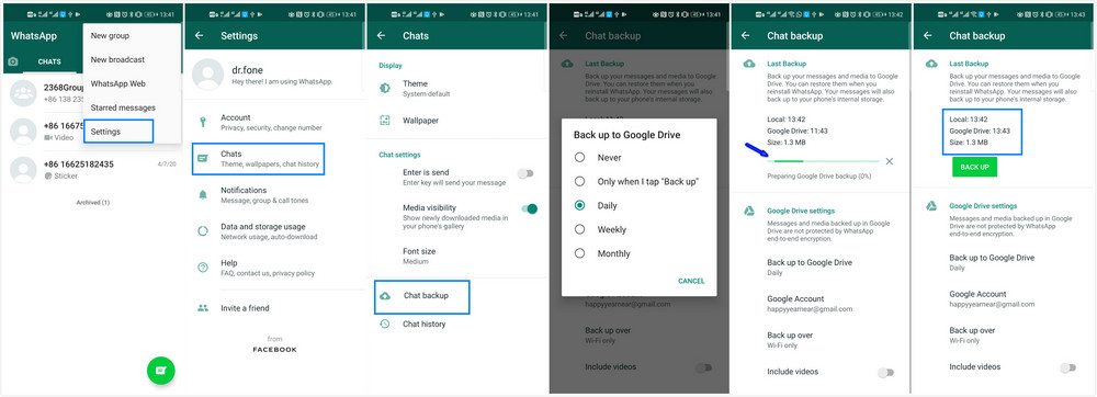 transfer whatsapp backup to google drive