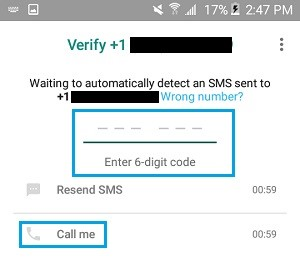 verify whatsapp without sim 10