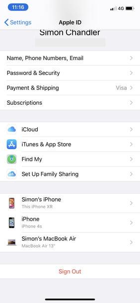 apple id settings