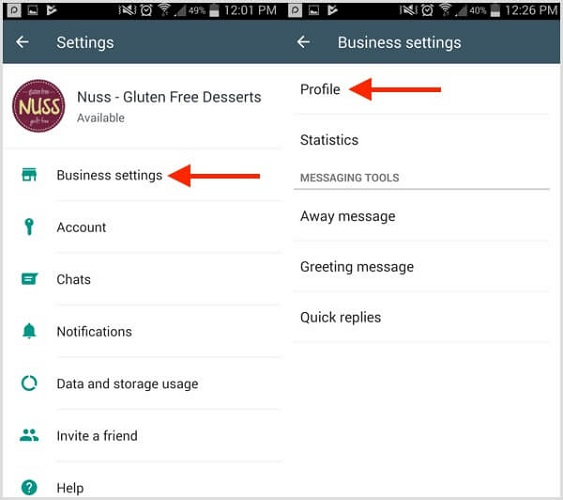 create whatsapp business accounts