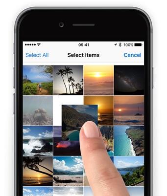 Import album iPhone