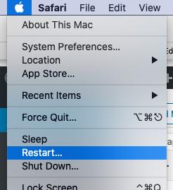 restarting mac
