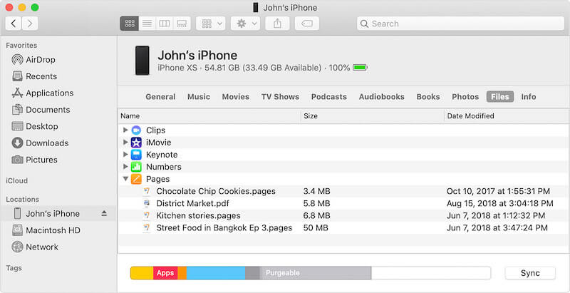 File-Sharing in iTunes