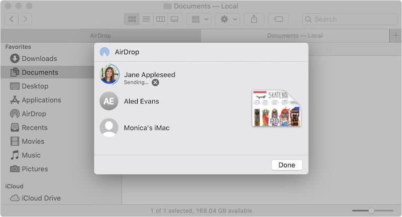 AirDrop in macOS Finder