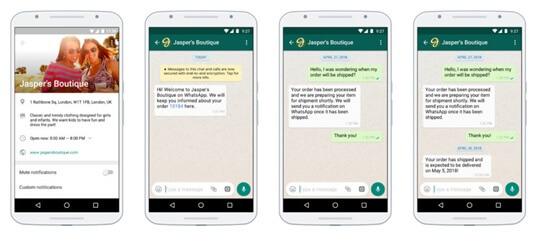 Profilo WhatsApp Business