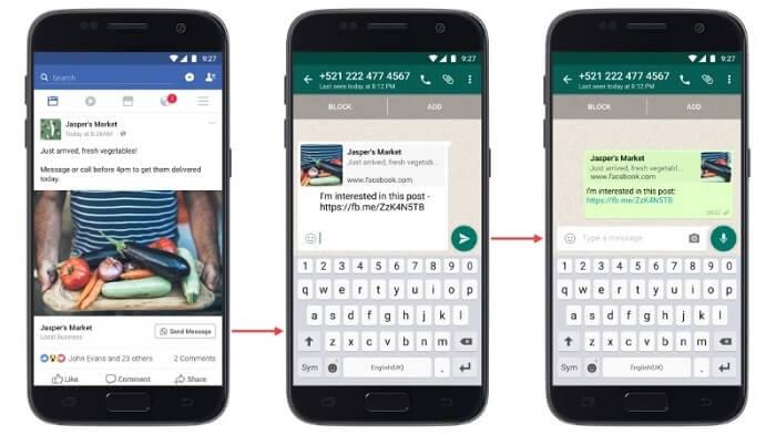 Anúncios CTA do WhatsApp no Facebook