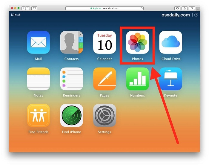 download photo from iCloud to iPhone