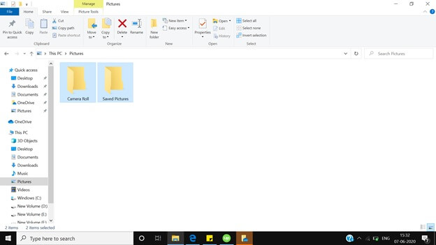 Window explorer folder
