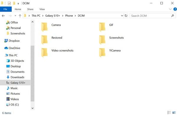 copy selected photos or folder