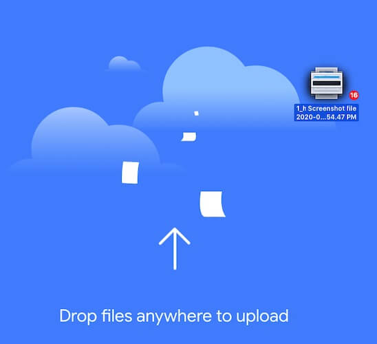 Drag-and-drop in Google Photos in web browser