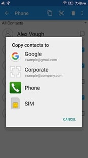 copy your contacts to second google account