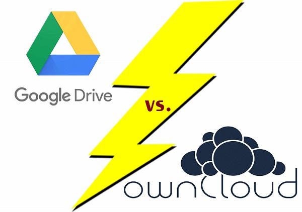 google dive vs owncloud